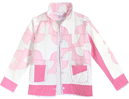Adult Medium - Two Tone Pink Patchwork