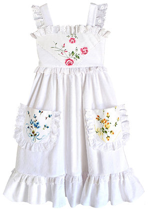 Kids 10: Heirloom Handkerchief Dress - Ribbons & Roses