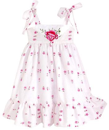 Kids 4T: Dimity Floral Dress - Pink Rose