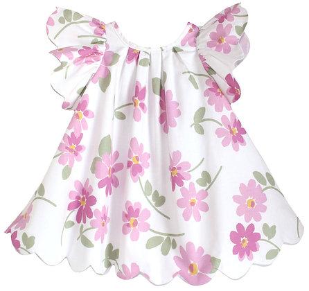 Kids 3y: Scallop Petal Dress - Dancing Daisies