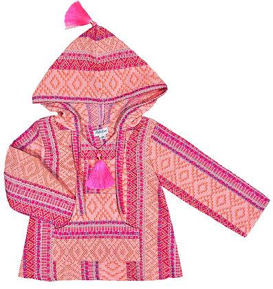 Neon Woven Textile Hoodie