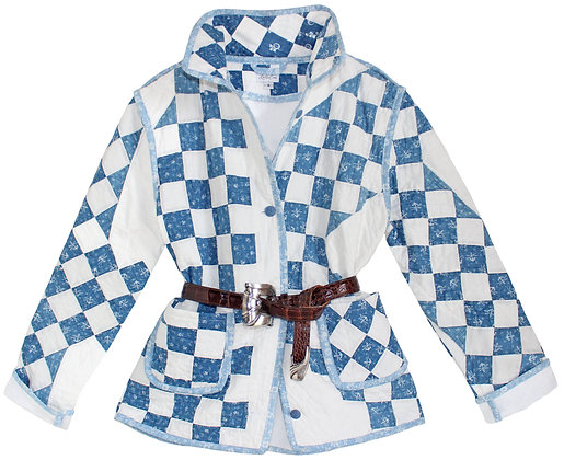 Adult Small: Antique Blue & White
