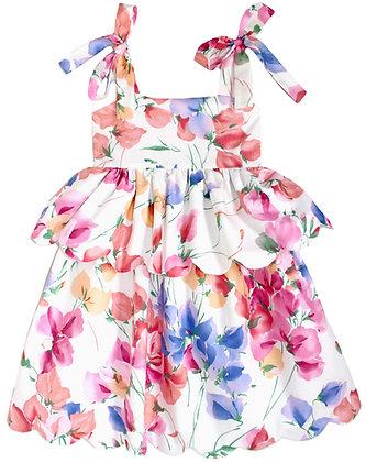 Kids 8y: Scallop Peplum Petal Dress - Sweetpeas