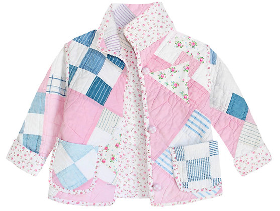 Kids 4-5y: Ditsy Floral Pink Patchwork
