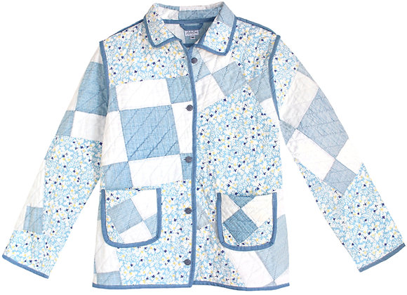 Adult Medium - Floral Chambray