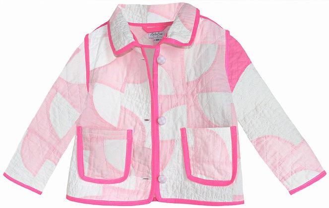 Kids 3T Vintage Quilt Jacket - Neon Pink Patchwork