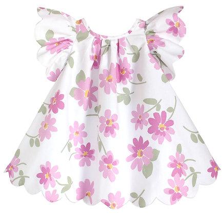 Kids 2y: Scallop Petal Dress - Dancing Daisies