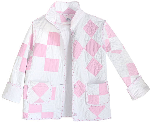 Adult Small - Pastel Pink Check