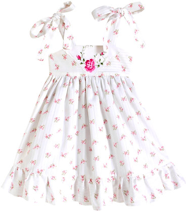 Kids 18m: Dimity Floral Dress - Pink Rose