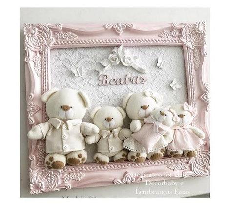 Quadro família urso