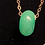 Thumbnail: Jade barrel 1/2 in  gold filled necklace