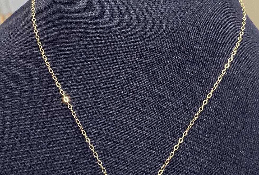 "Carved jade barrel on 16"" or 18"" gold filled chain"
