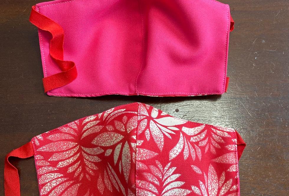 Pink\White Hawaii Print Face Mask