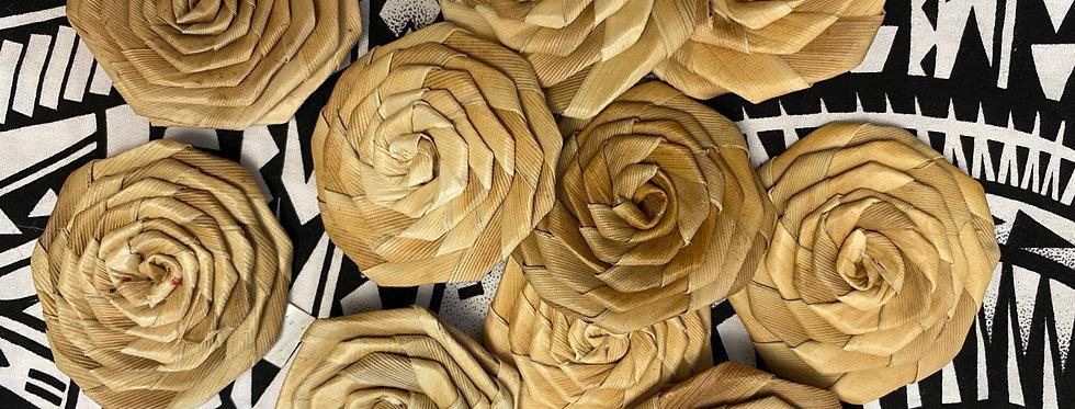 """2"""" lauhala rose - 10 pieces"""
