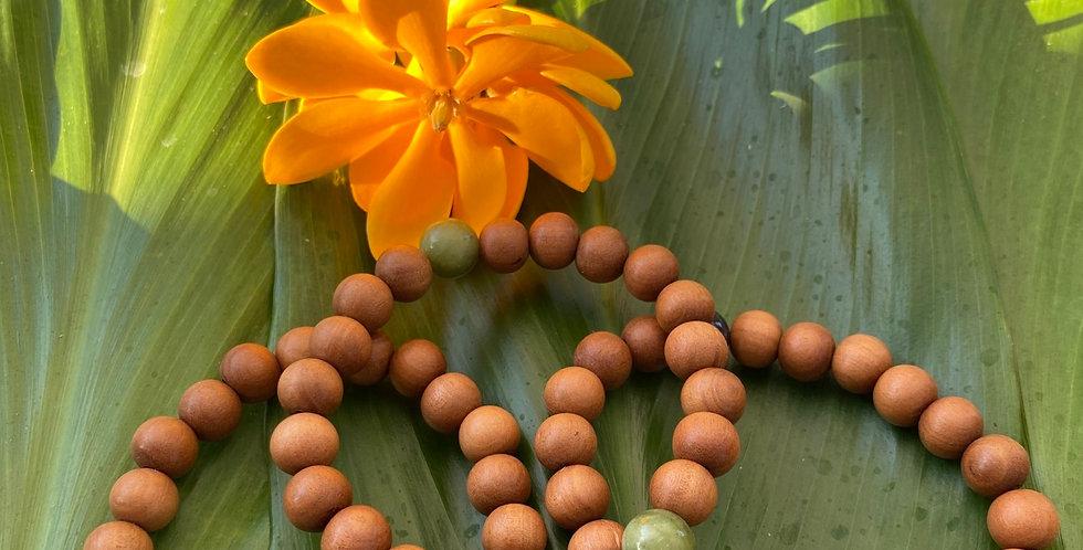 Sandalwood pearl bracelet sets