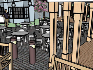 New restaurants & seating areas...
