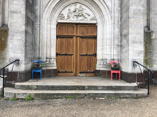 Création de M. et Mme Guillet pour l'église de Ballots