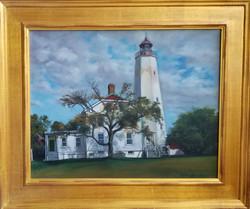 """""""Fort Hancock Lighthouse"""" oil"""