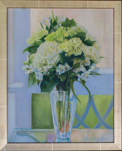 """""""Sunroom Flowers"""" 16""""x12"""" oil"""