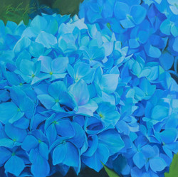 Summer Blue, Oil 27x27