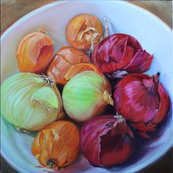 Onions, Oil 12x12