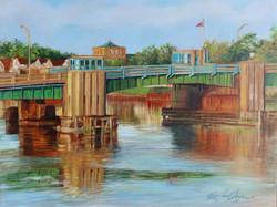 Sea Bright Bridge, Oil 9x12