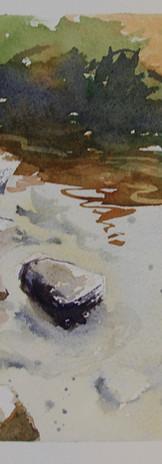 _Aguas & Pedras 01 - Aquarela (papel arc