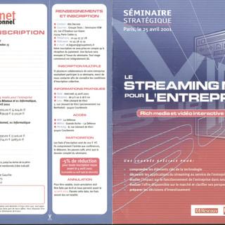 CNIT La défense 2001: Conférence sur le streaming