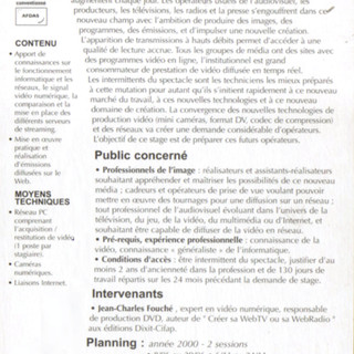 cifap_2000: Stage WebTV