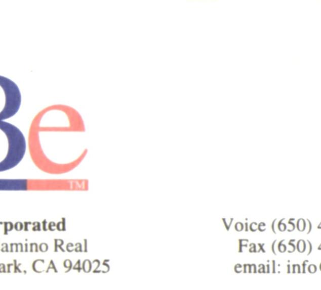 1997: Be et la vidéo