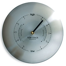 stainless steel tidal clock by tideclocks.co.uk
