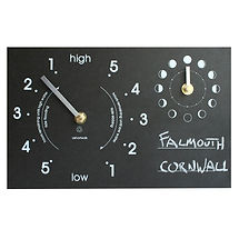 recycled paper moon and tide clock by tideclocks.co.uk