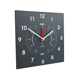 recycled paper time and tide clock by tideclocks.co.uk