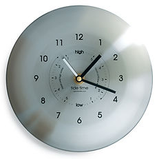 stainless steel time and tide clock by tideclocks.co.uk