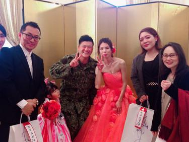 女性スタッフの結婚式
