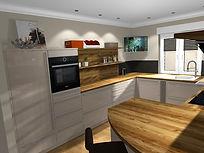 Küchenplaner Dyrotz, große Arbeitsfläche, Schüller