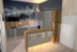 Küchenplaner, Loftküche, moderne Küche, Thresen, Küchenthresen, Bar, Schüller