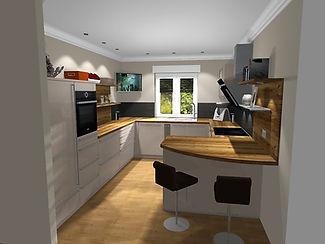 Küchenplaner Dyrotz, Schüller Gala, Einbauküche, offene Küche