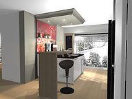 offene Küche, Küchenplaner Elstal, Küche schwarz weiss