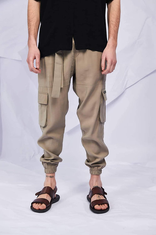P/COC SUMMER CARGO PANTS IN BEIGE