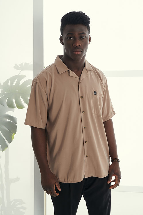 P/COC SHORT SLEEVE SHIRT IN CAMEL