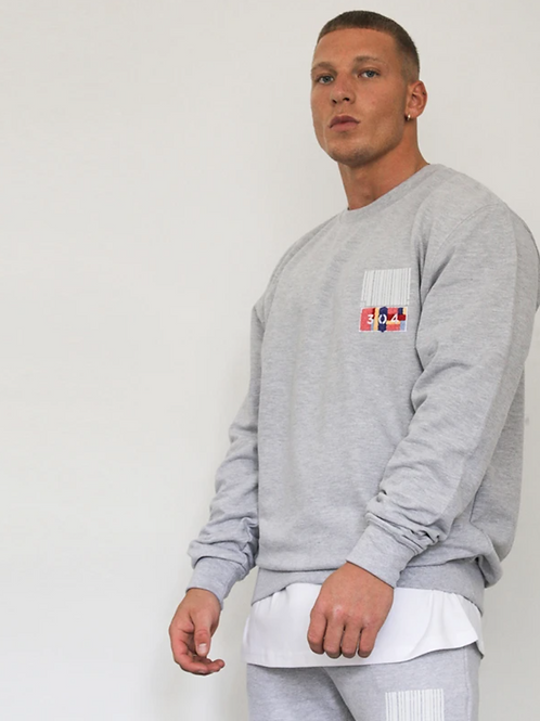 304 BARCODE SWEATER IN GREY