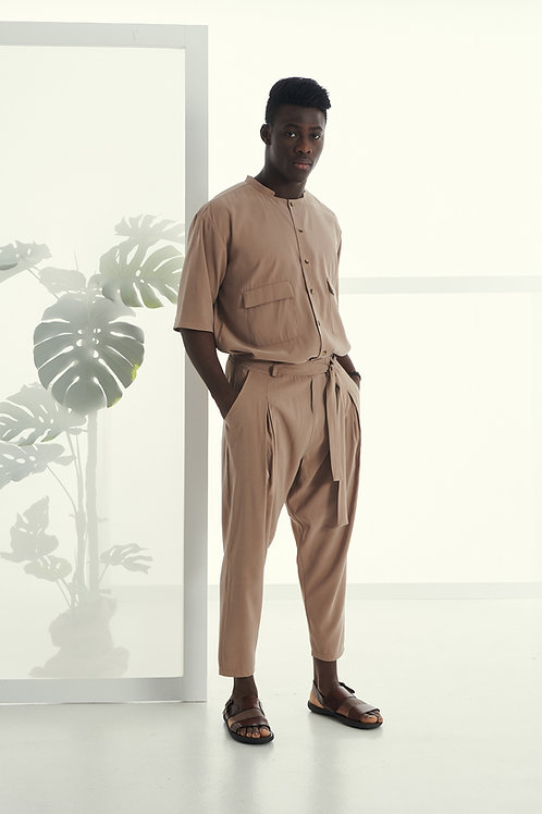 P/COC SMART TROUSER IN CAMEL