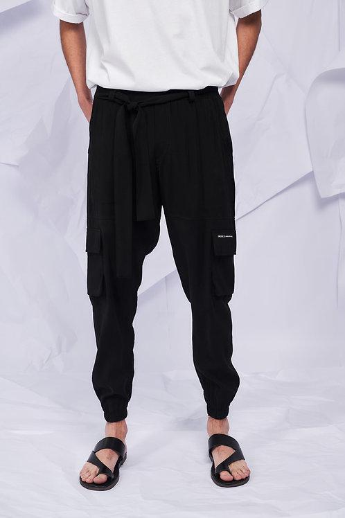 P/COC SUMMER CARGO PANTS IN BLACK