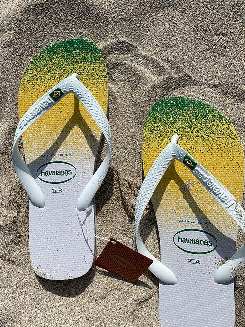 HAVAIANAS BRAZIL LOGO IN WHITE