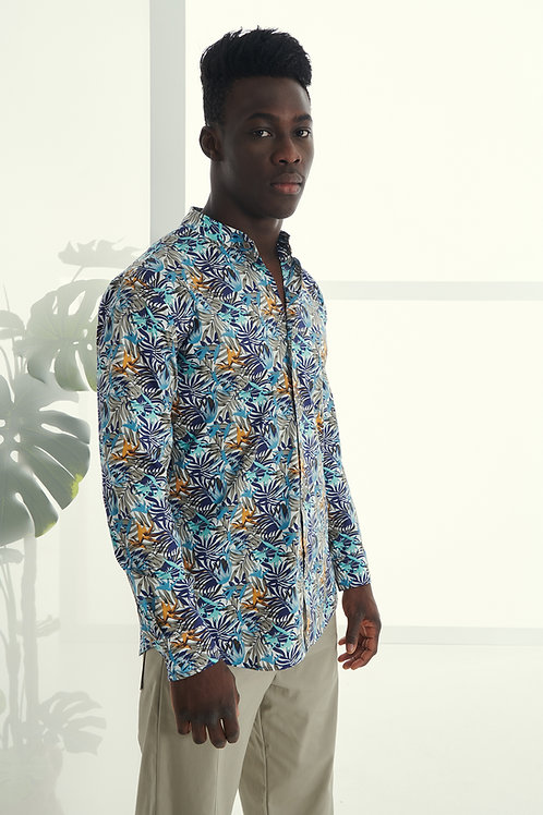 P/COC FLORAL PRINT SHIRT IN MULTI
