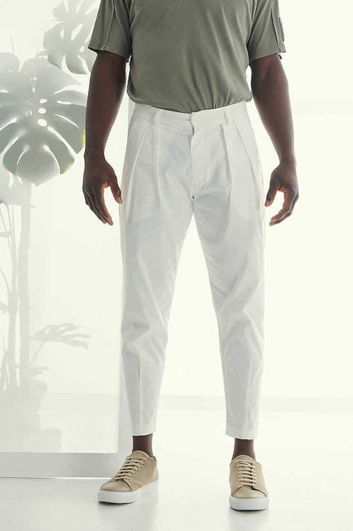 P/COC TAPERED SMART  TROUSER IN WHITE