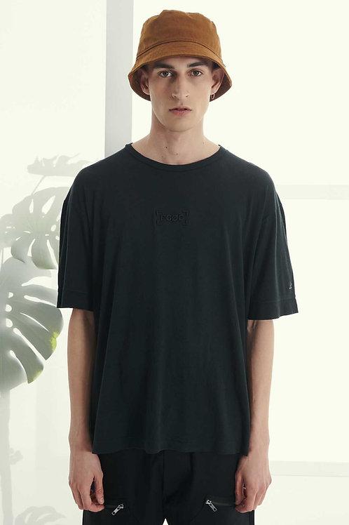 P/COC LINEN T-SHIRT IN BLACK