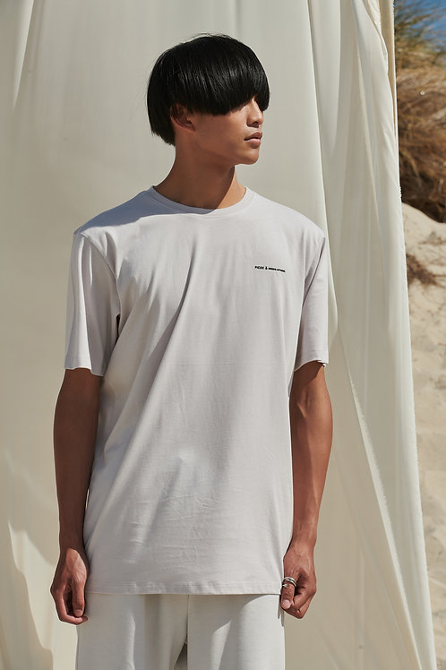 P/COC BACK DETAIL T-SHIRT IN WHITE