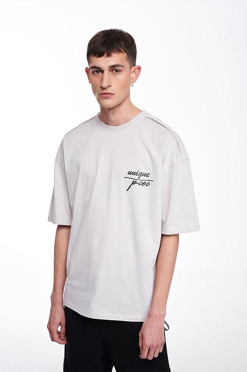 P/COC LOGO DETAIL T-SHIRT IN WHITE